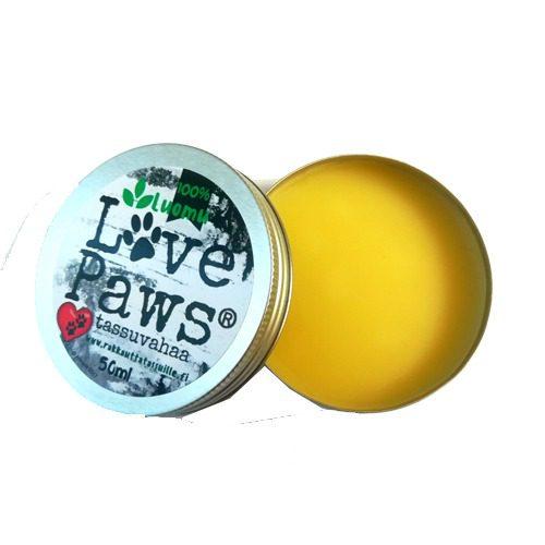 Love Paws tassuvaha on kauniin keltaisen värinen..